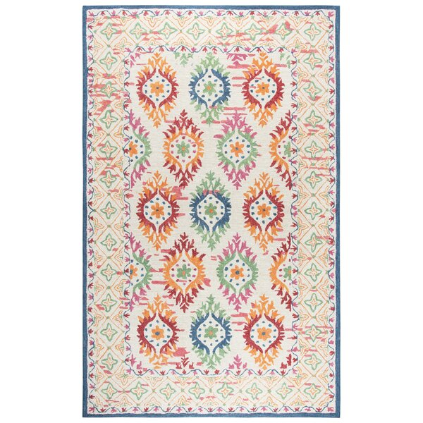 Duron Hand-Tufted Wool Ivory/Beige Area Rug by Bungalow Rose