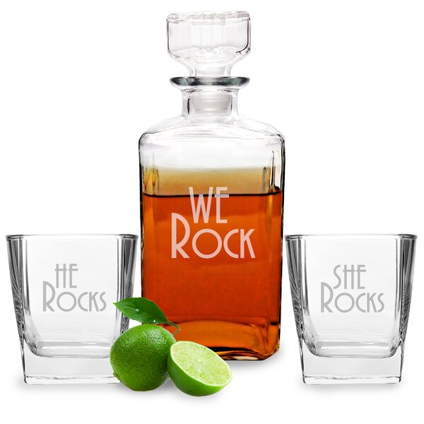 We Rock Decanter and Glass Set by Cathys Concepts