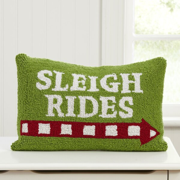 Sleigh Rides Hooked Pillow by Birch Lane Kids™