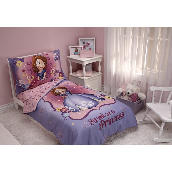Sweet as a Princess 4 Piece Sofia the First Toddler Bedding Set by Disney