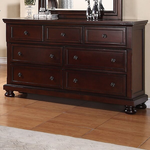 Lillianna 7 Drawer Dresser with Mirror by Darby Home Co