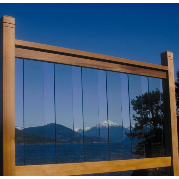 3 ft. H x 6 ft. W Clearview Fence Panel by Vista Railing Systems Inc