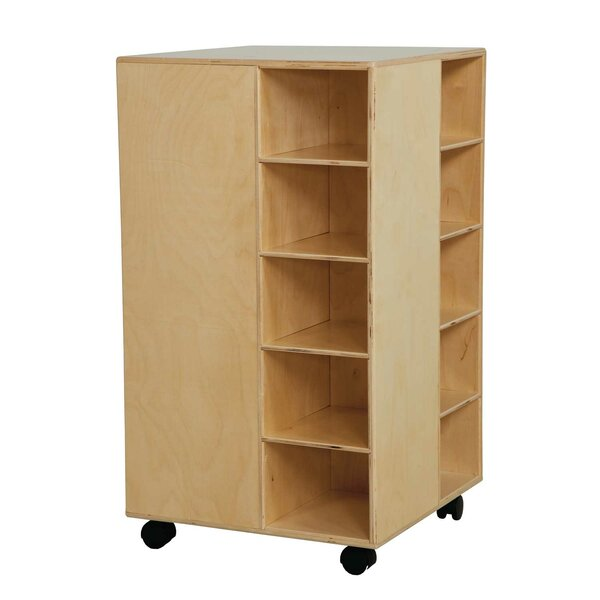Space Saver 20 Compartment Cubby with Casters by Wood Designs