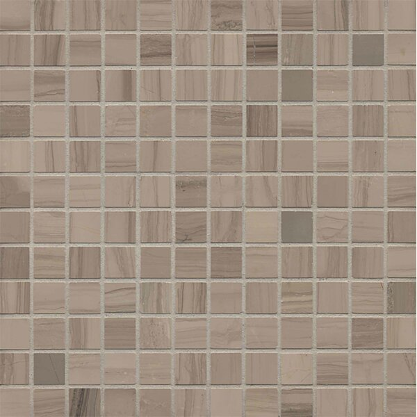 Maison 1 x 1 Marble Mosaic Tile in Grey by Bedrosians