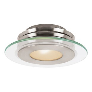 Bargain Rockford 1-Light Outdoor Semi Flush Mount By Orren Ellis