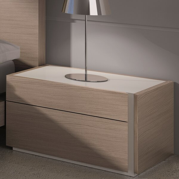 Bridgeport Right 2 Drawer Nightstand by Wade Logan Wade Logan