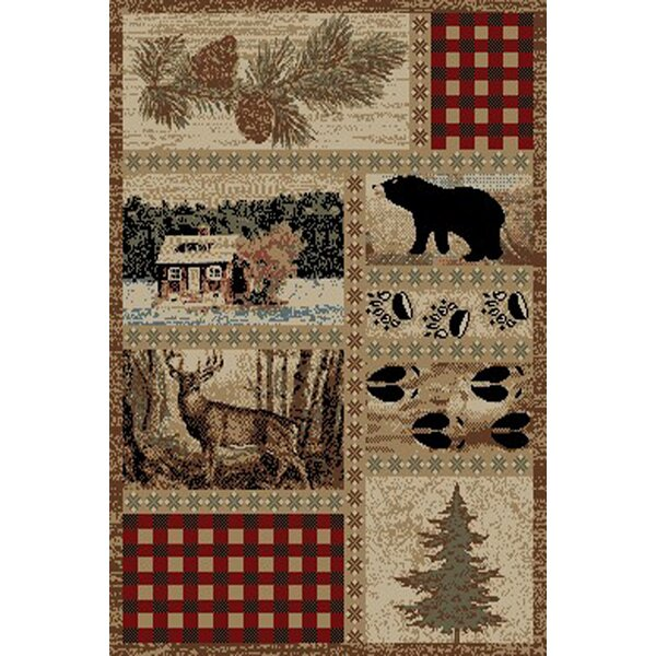 American Destinations Beige/Red Area Rug by Mayberry Rug