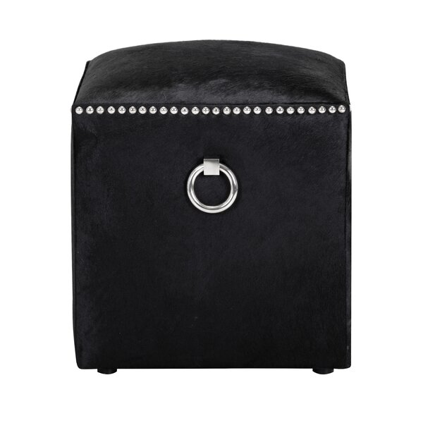 Read Reviews Nishi Leather Cube Ottoman