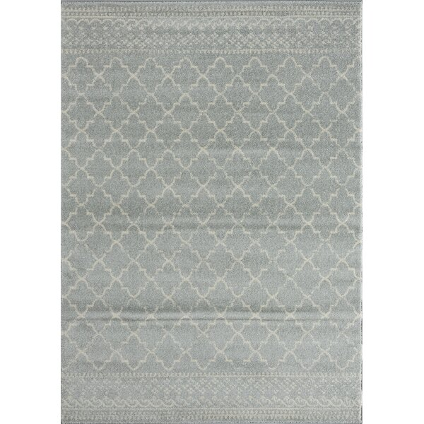 Cascio Light Gray Area Rug by Gracie Oaks