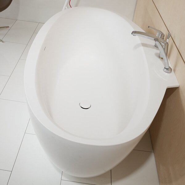 Sensuality 66.5 x 37 Freestanding Soaking Bathtub by Aquatica