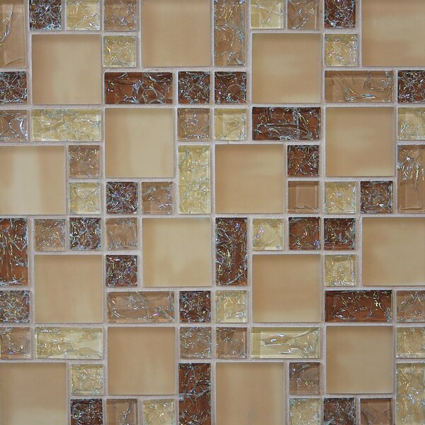 Staccato 12.63 x 12.63 Mosaic Gloss Matte Tile in Leather by Grayson Martin