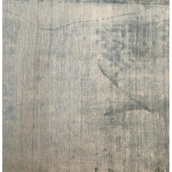 Plain Softest Touch Hand-Knotted Blue Area Rug by Exquisite Rugs