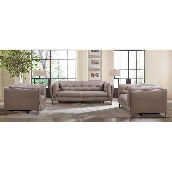 Primrose Leather Reclining Configurable Living Room Set by Latitude Run
