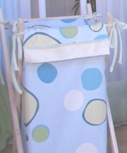 Minky Bubbles Laundry Hamper by Brandee Danielle