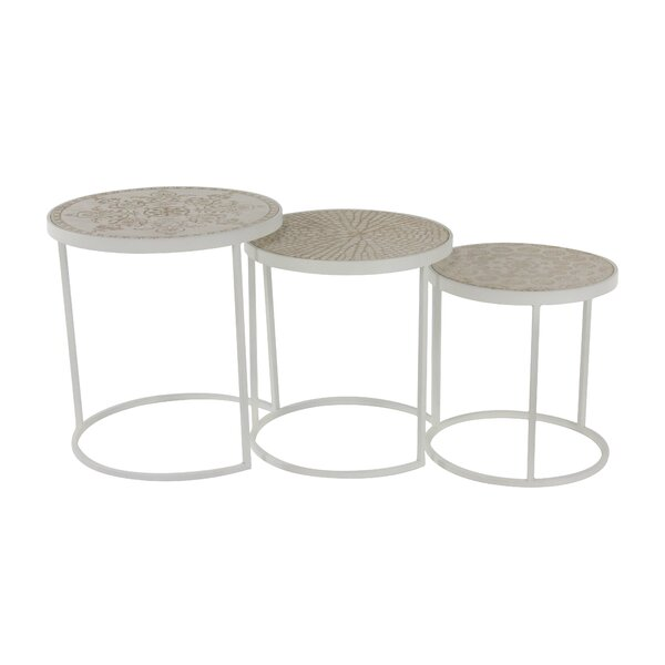 Okemah 3 Piece Nesting Tables by Bungalow Rose