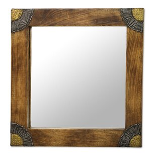 World Menagerie Culebra Image Wood Accent Wall Mirror