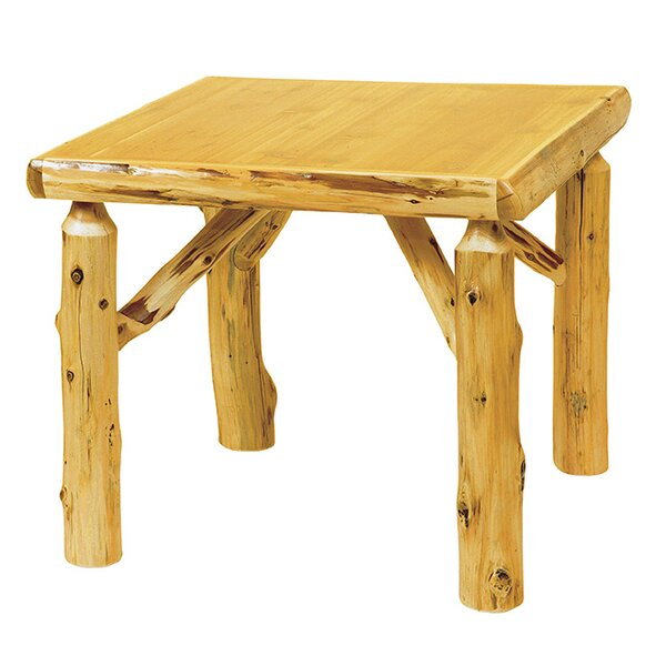 Traditional Cedar Log Cards Table by Fireside Lodge
