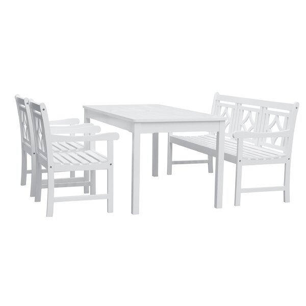 Zephyrine 4 Piece Patio Dining Set by Beachcrest Home
