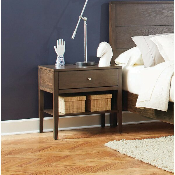 Lavenia 1 Drawer Nightstand by Three Posts