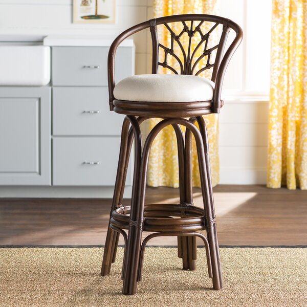 Jamison 30 Swivel Bar Stool by Beachcrest Home