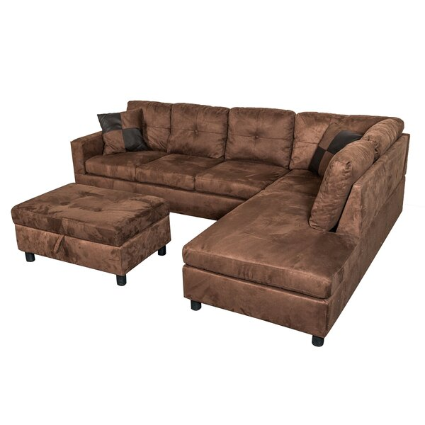 Richview Reversible Sectional Sofa with Ottoman by Charlton Home