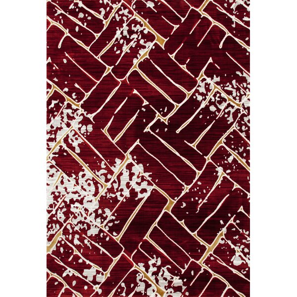 Mcconnell Red Area Rug by Ebern Designs