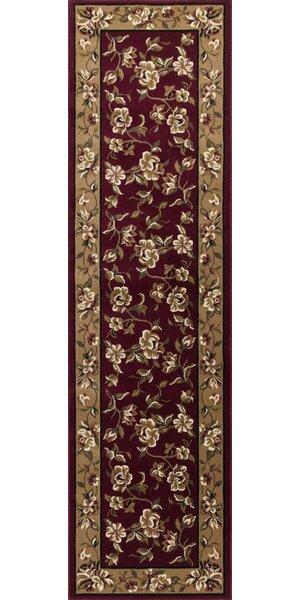 Bellville Red & Beige Floral Area Rug by Charlton Home