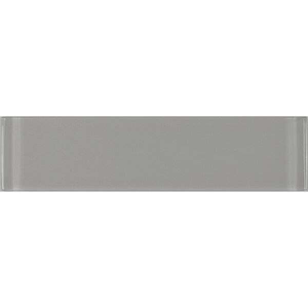 Metro 3 x 12 Glass Subway Tile in Gray by Abolos