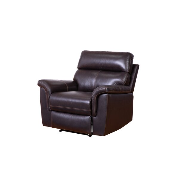 Paden Leather Manual Recliner [Red Barrel Studio]