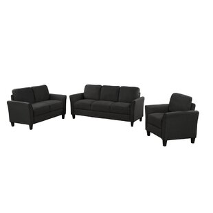 Gowtham 3 Piece Living Room Set by Red Barrel Studio®