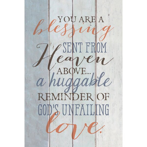 You Are a Blessing… Textual Art Plaque by Dexsa