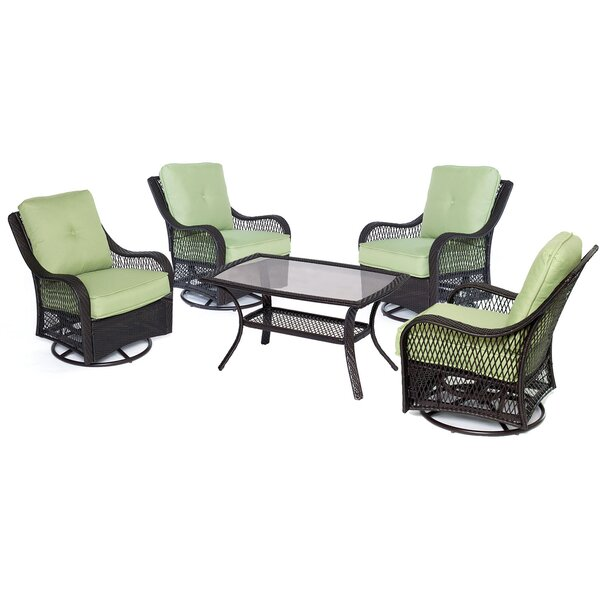 Innsbrook 5 Piece Conversation Seat with Cushions by Alcott Hill