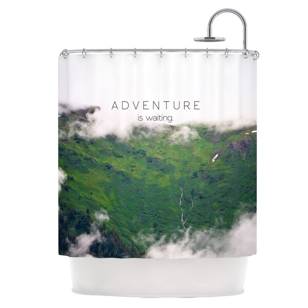 Adventure is Waiting Shower Curtain by East Urban Home