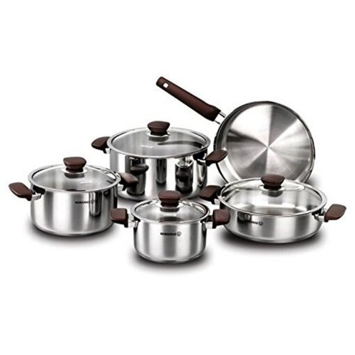 Korkmaz 9 Piece Cookware Set by YBM Home