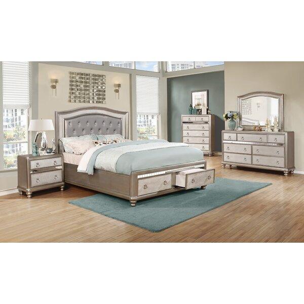 Adley Upholstered Storage Standard Bed by Rosdorf Park