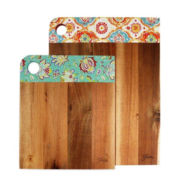 2 Piece Cutting Board Set by Fiesta