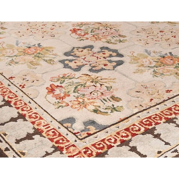 One-of-a-Kind Oushak Hand-Knotted Brown/Red 14'1 x 20'3 Wool Area Rug