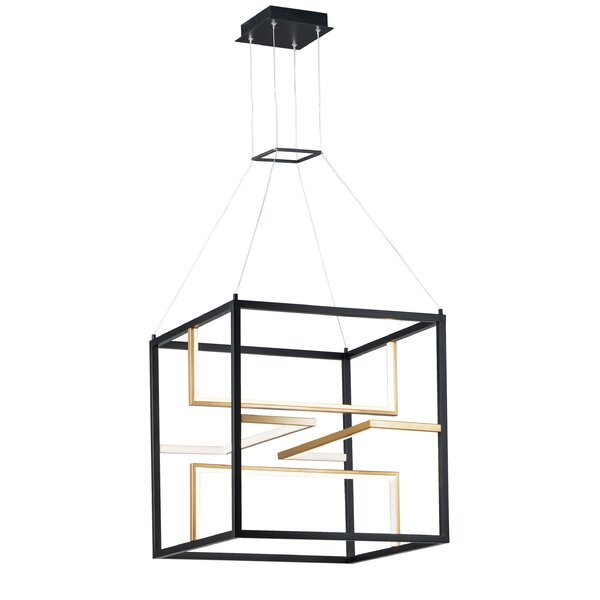 Ferrin 4 - Light Unique / Statement Square / Rectangle Chandelier By Mercer41