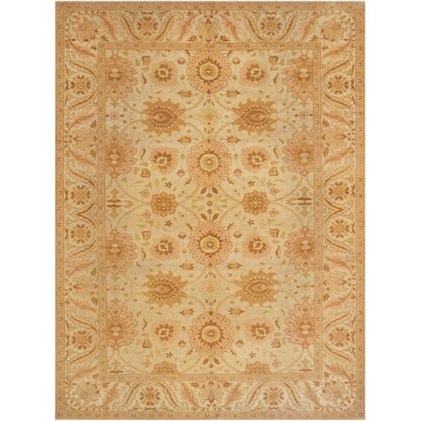 One-of-a-Kind Agra Fine Hand-Knotted Wool Ivory Indoor Area Rug by Mansour