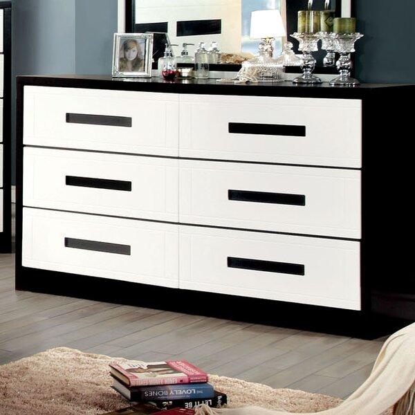 Verzaci 6 Drawer Double Dresser by Hokku Designs
