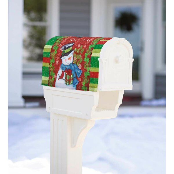 Holiday Snowman Magnetic Mailbox Cover by Plow & H