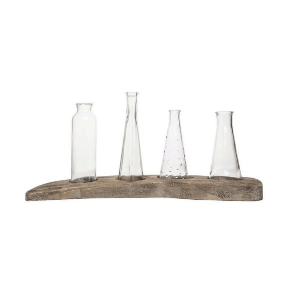 Meira 4 Bud Driftwood 5 Piece Table Vase Set by Union Rustic