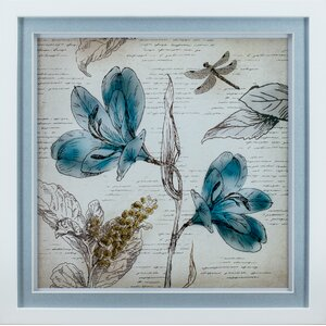 Fleur 2 Piece Framed Painting Print Set by Statements by J