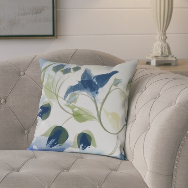 Roscoe Windy Bloom Floral Outdoor Throw Pillow by August Grove