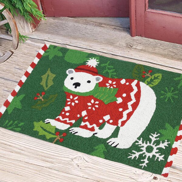 Carlos Holiday Polar Bear Mat