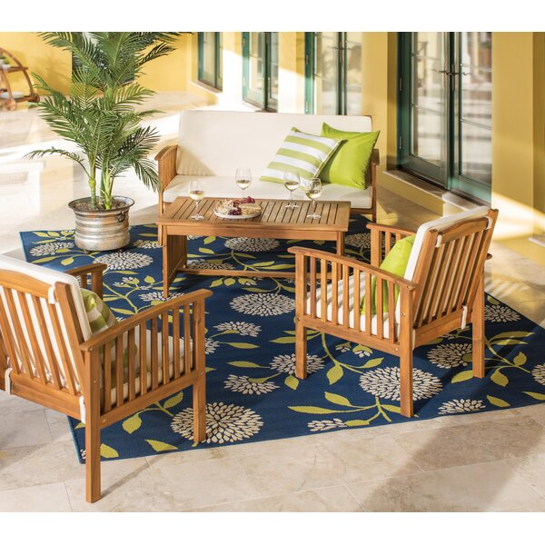 Firenze 4 Piece Sofa Seating Group with Cushions by Andover Mills