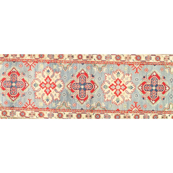 Kazak Design Hand-Knotted Wool Red Area Rug
