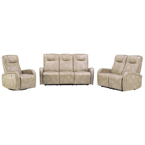 Hiller Reclining 3 Piece Living Room Set (Set of 3) by Winston Porter