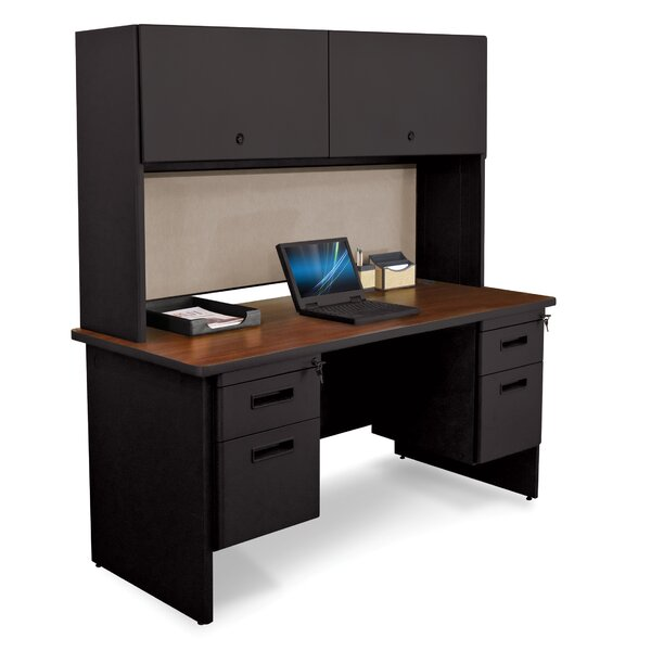 Pronto Door and Lock Computer Desk with Hutch by Marvel Office Furniture