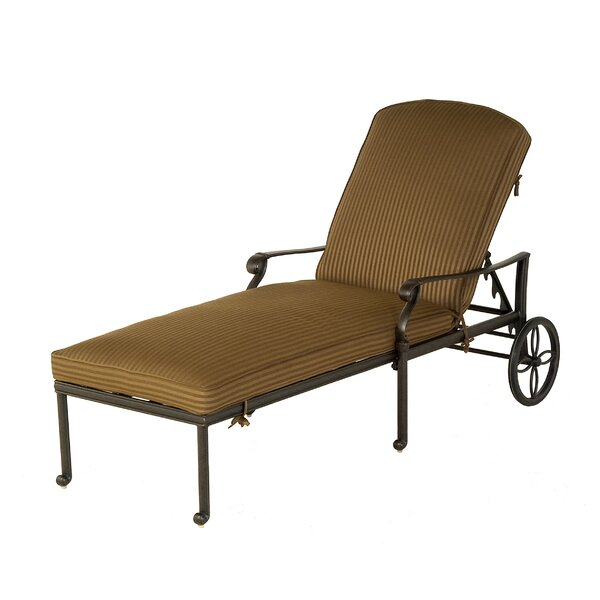 Merlyn Reclining Chaise Lounge with Cushion